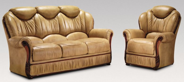 Turin 3 Seater + Armchair + Armchair Genuine Italian Nut Leather Sofa Suite Offer