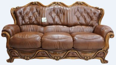 Dante 3 Seater Italian Leather Sofa Settee Offer Tabak