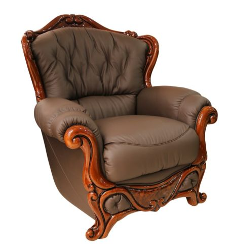 Dante Armchair Italian Leather Sofa Settee Offer Chocolate Brown