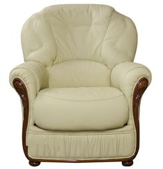 Debora Genuine Italian Sofa Armchair Cream Leather