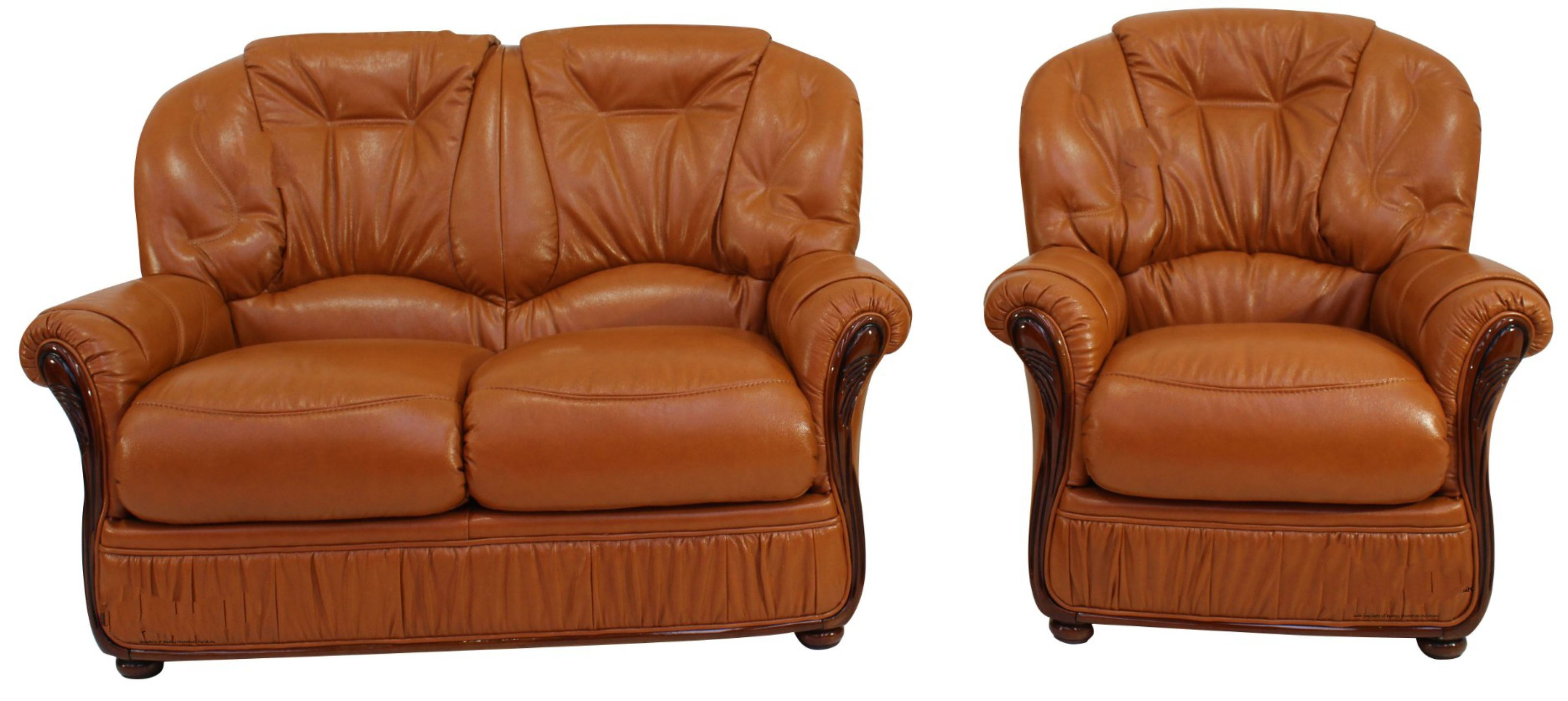 Picture of: Debora 2 Seater Armchair Genuine Italian Tan Leather Sofa Suite Offer Leather Sofas Fabric Sofas