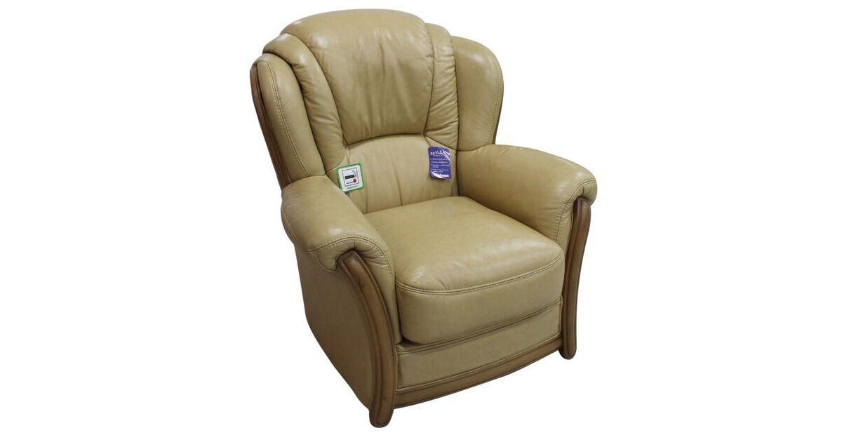 Pisa Armchair Italian Leather Sofa Settee Offer Nut