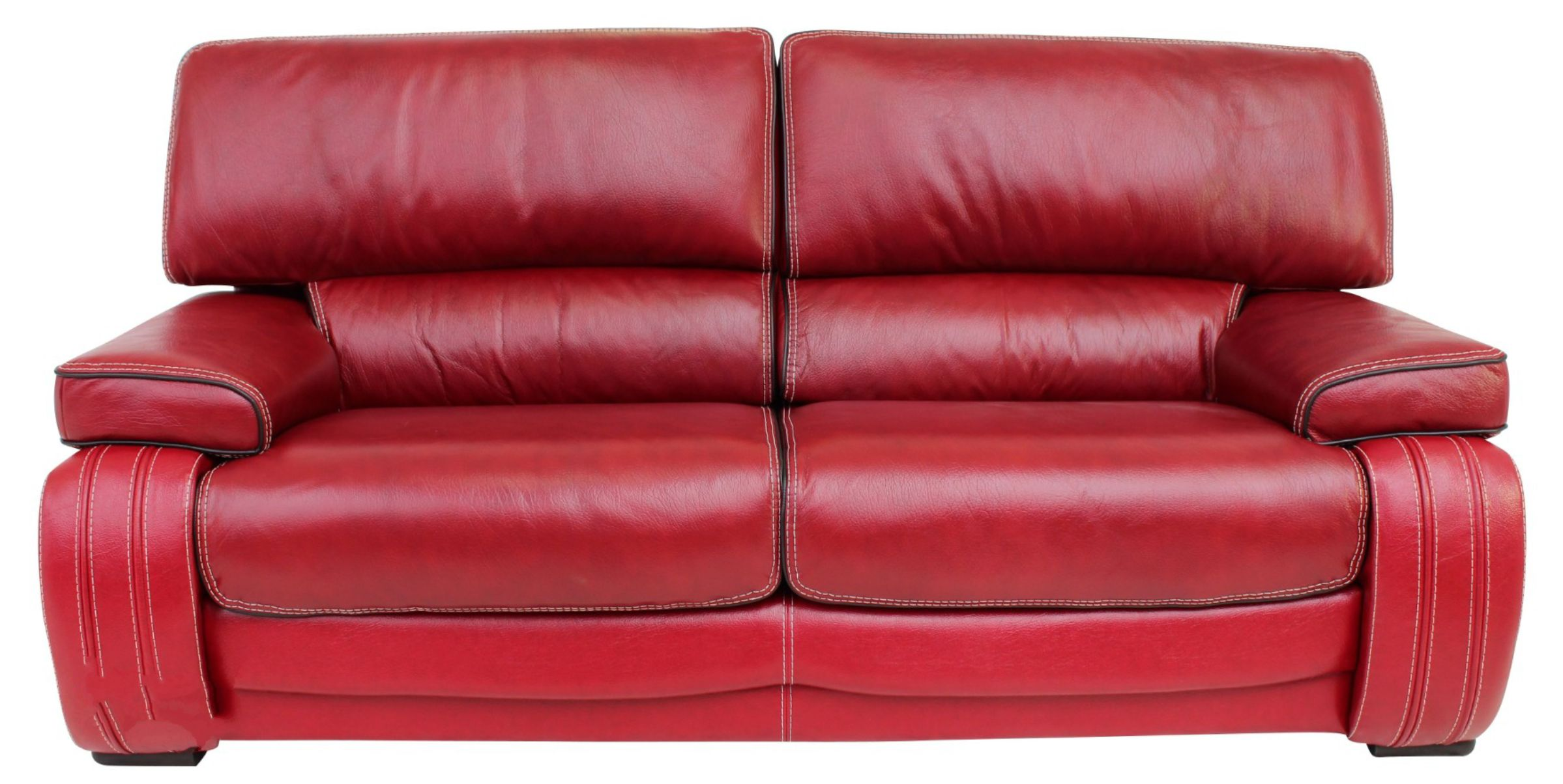 kentucky 3 seater genuine italian red leather sofa settee offer leather sofas fabric sofas. Black Bedroom Furniture Sets. Home Design Ideas
