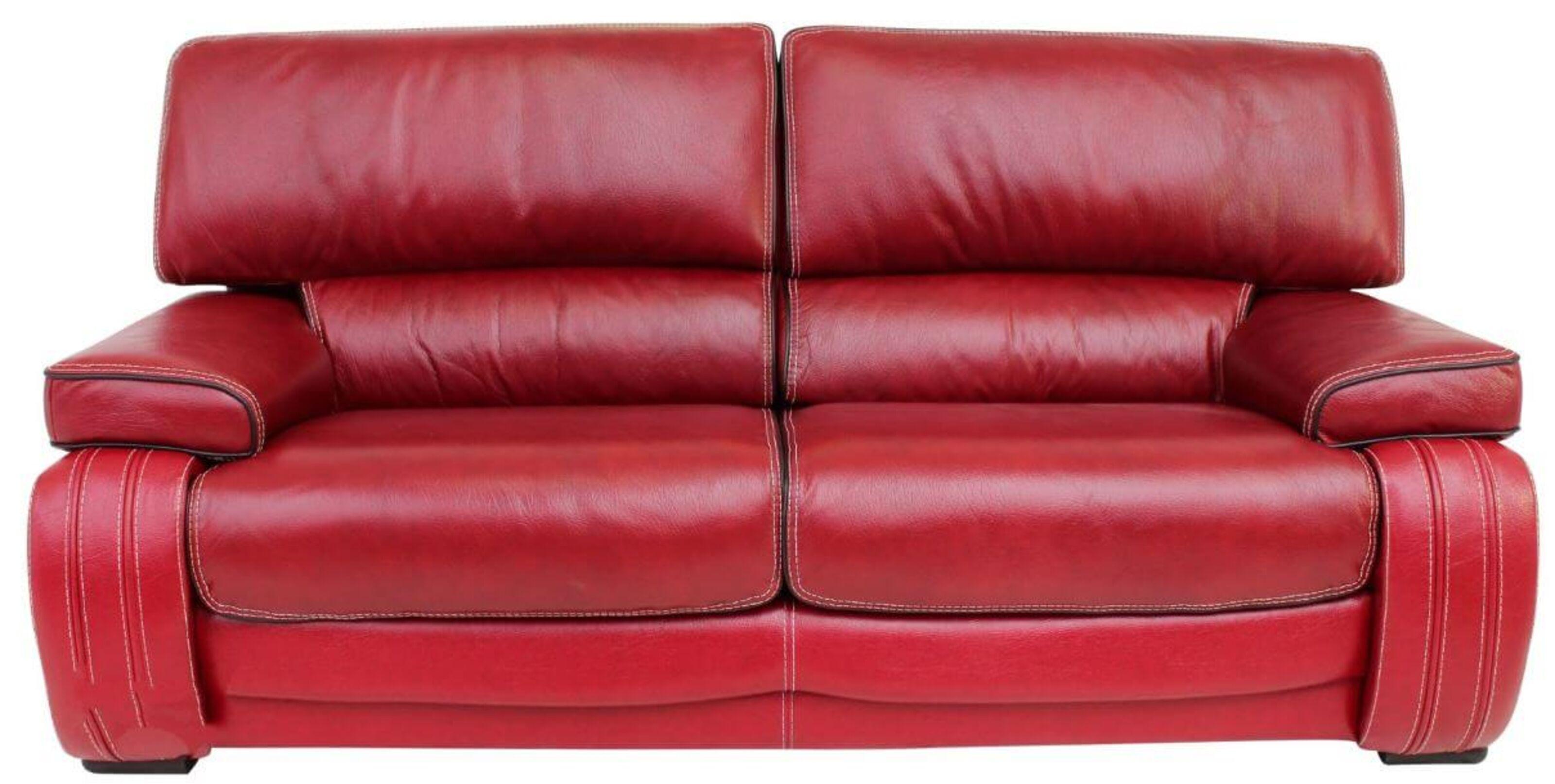 Firenze Italian Leather Sofa Settee