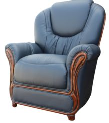 Juliet Genuine Italian Sofa Armchair Blue Leather