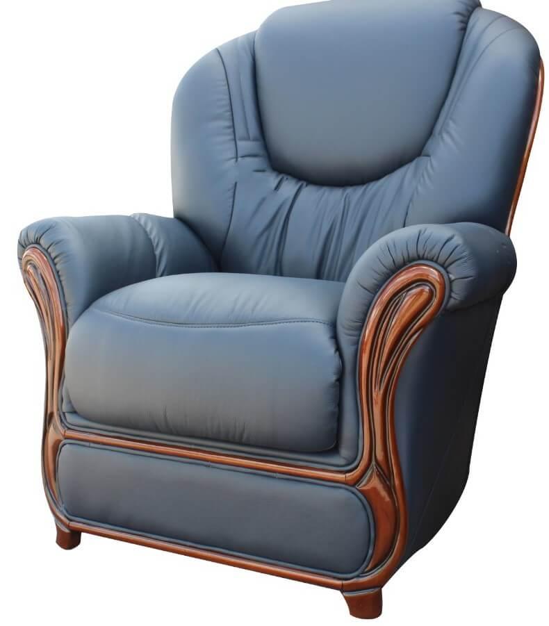 juliet genuine italian sofa armchair blue leather leather