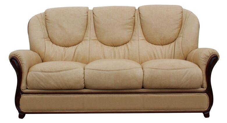 Mississippi Genuine Italian Leather 3 Seater Sofa Settee Nut