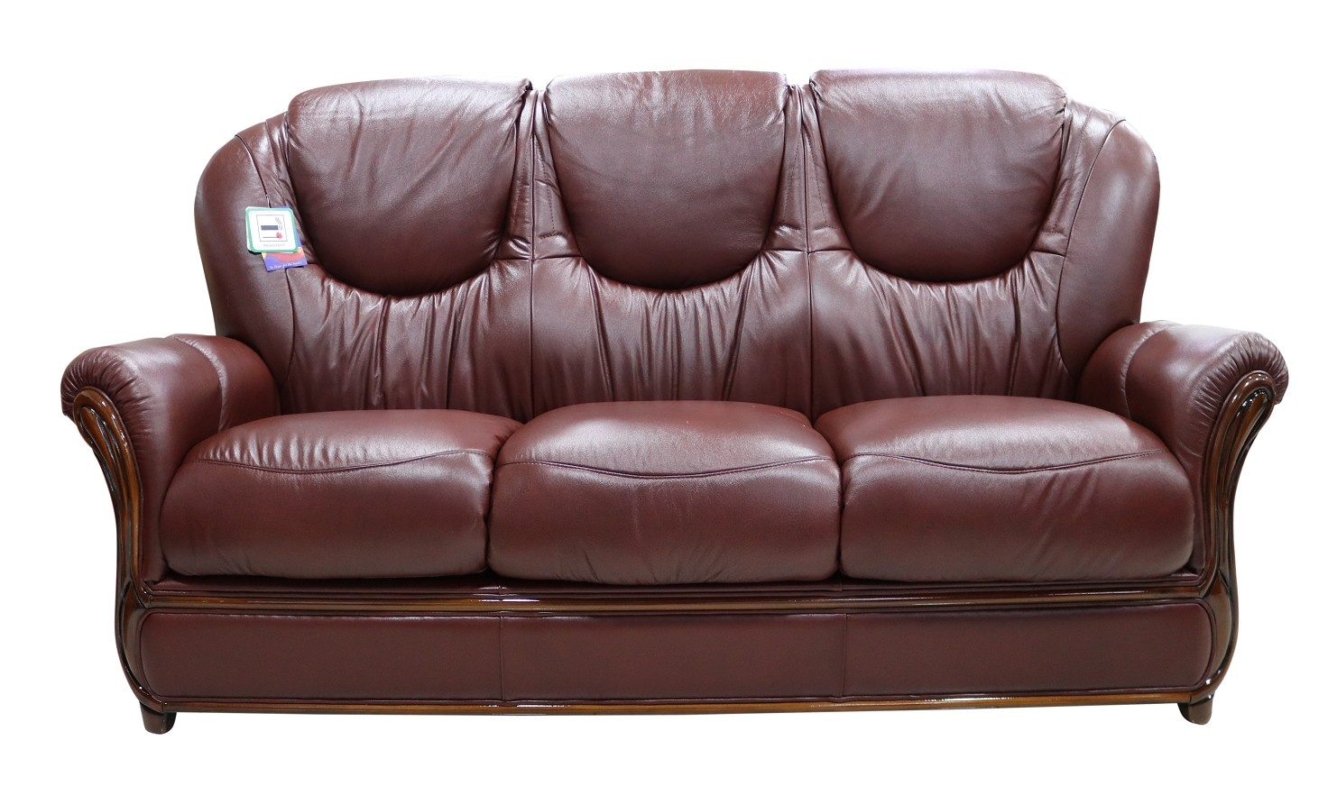 Remarkable Juliet Genuine Italian Leather 3 Seater Sofa Settee Wine Gamerscity Chair Design For Home Gamerscityorg