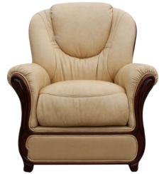 Mississippi Genuine Italian Sofa Armchair Nut Leather