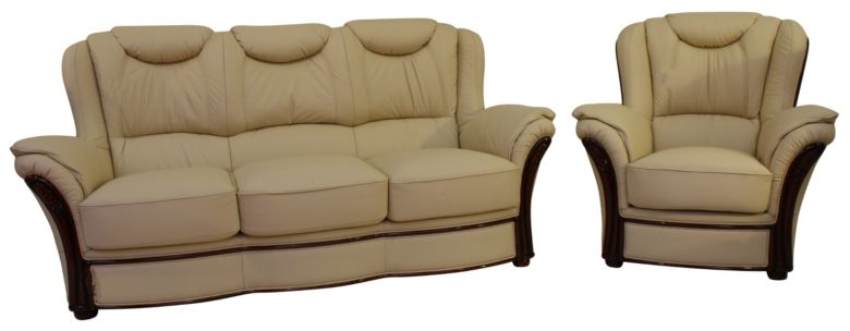 Montana 3+1 Genuine Italian Cream Leather Sofa Suite Offer