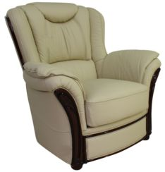 Verona Genuine Italian Sofa Armchair Cream Leather