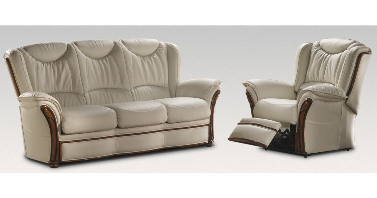 Verona 3 1 Electric Reclining Genuine Italian Cream