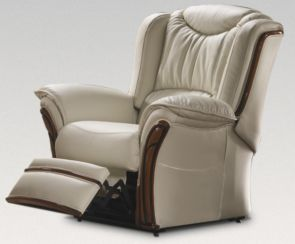 Laura Electric Reclining Armchair Sofa Genuine Italian Cream Leather Offer
