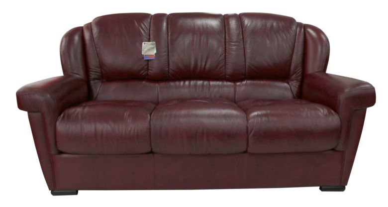 Lazio 3 Seater Sofa Genuine Italian Leather Burgandy