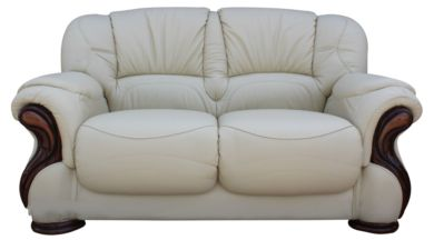 Susanna Italian Leather 2 Seater Sofa Settee Cream Offer