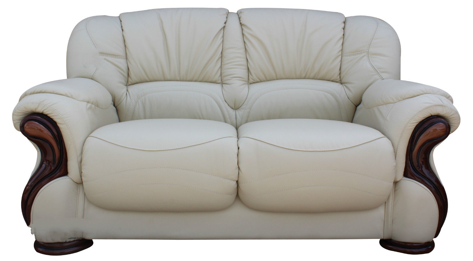 Susanna italian leather 2 seater sofa settee cream offer leather sofas fabric sofas Italian leather sofa uk