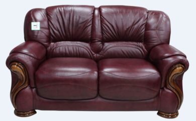 Susanna Italian Leather 2 Seater Sofa Settee Burgandy Offer