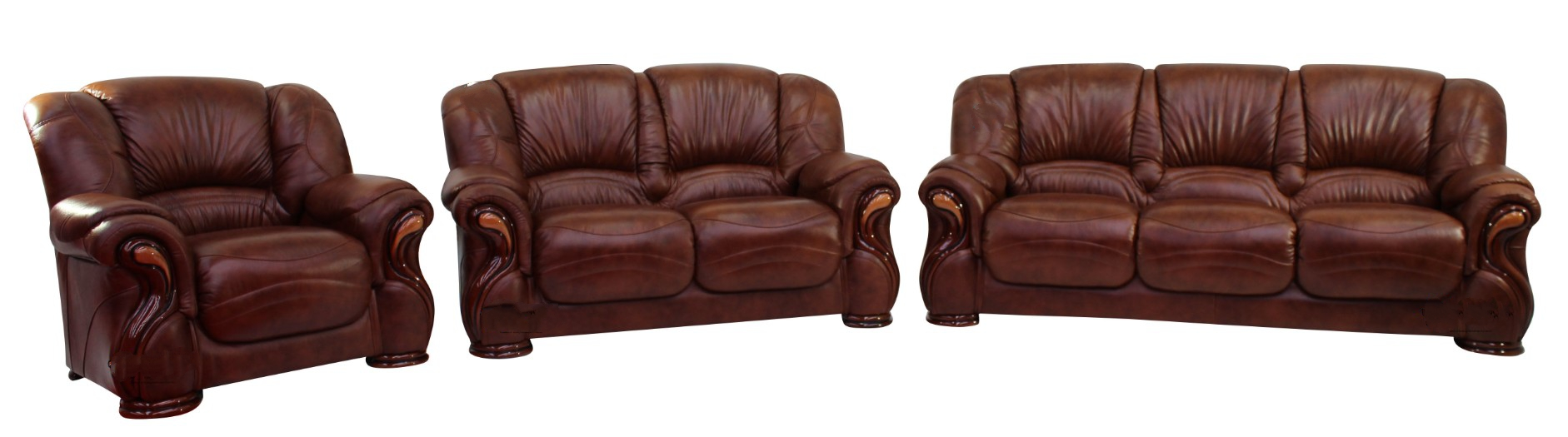 Susanna 3 2 1 italian leather sofa suite tabak brown offer leather sofas fabric sofas Italian leather sofa uk
