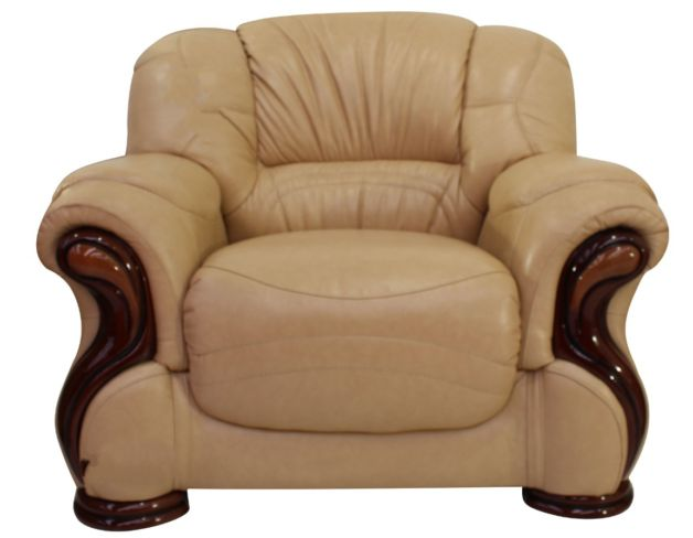 Susanna Italian Leather Armchair Nut Offer