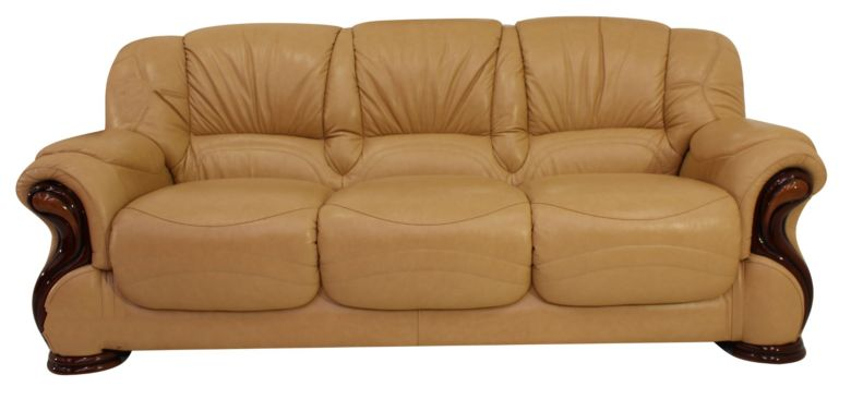 Susanna Italian Leather 3 Seater Sofa Settee Nut Offer