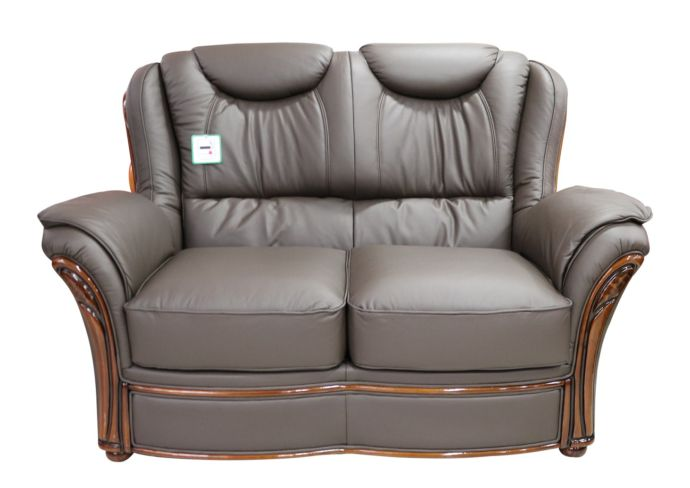 Verona 2 Seater Sofa Settee Genuine Italian Chocolate Brown Leather Offer