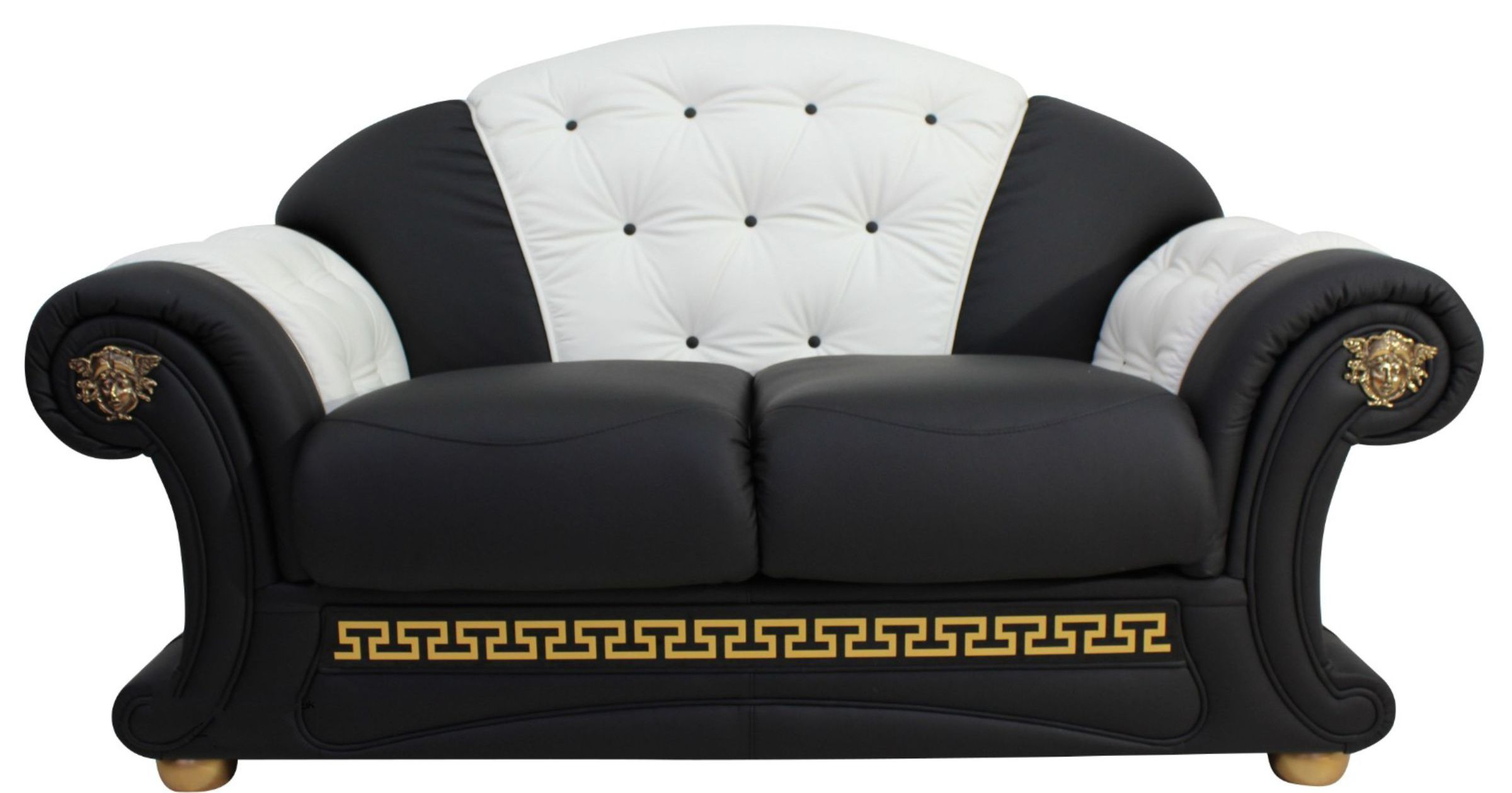 Versace 2 seater sofa settee genuine italian black white Versace sofa