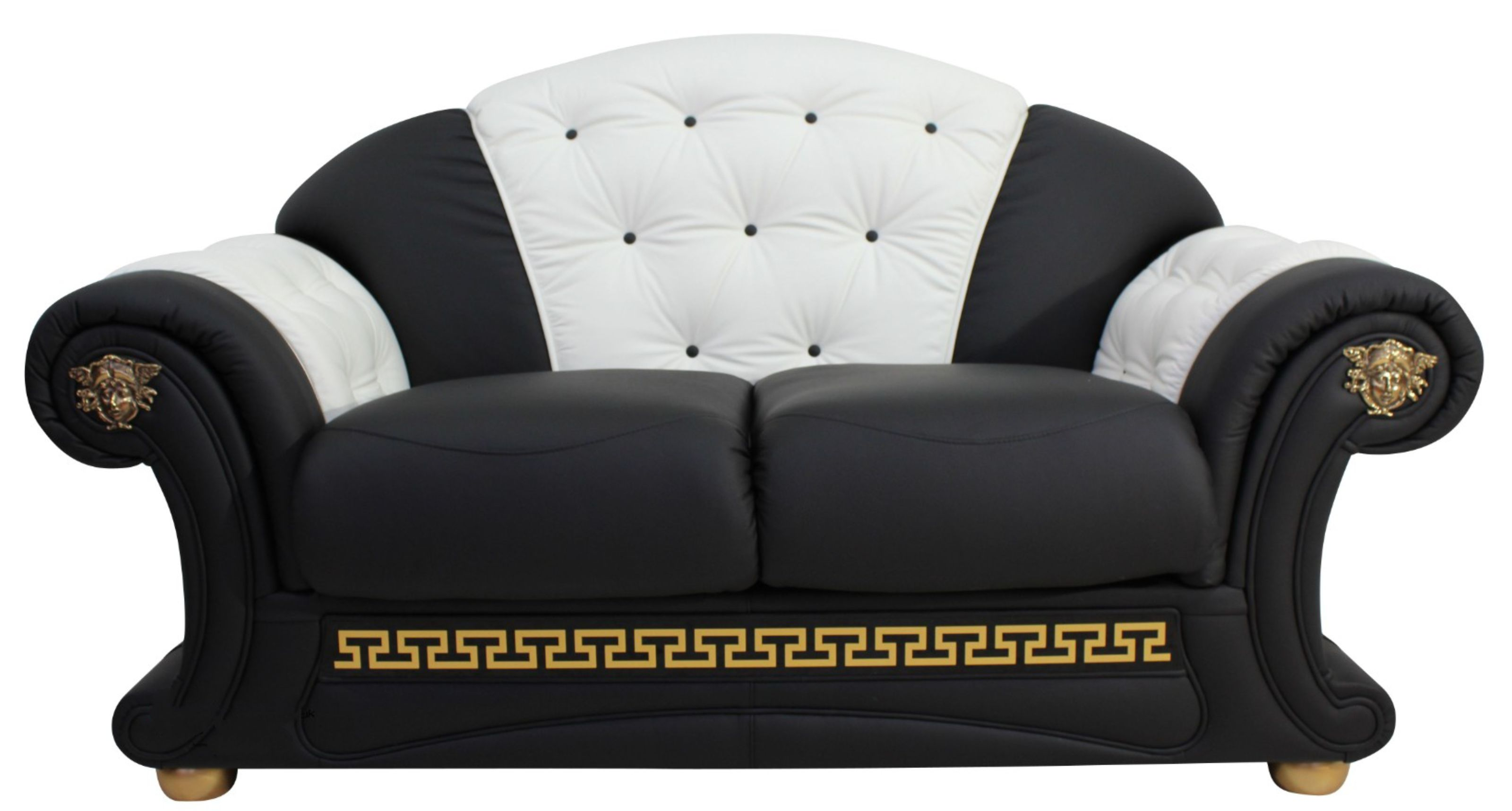Outstanding North Carolina 2 Seater Sofa Settee Genuine Italian Black White Leather Offer Pabps2019 Chair Design Images Pabps2019Com