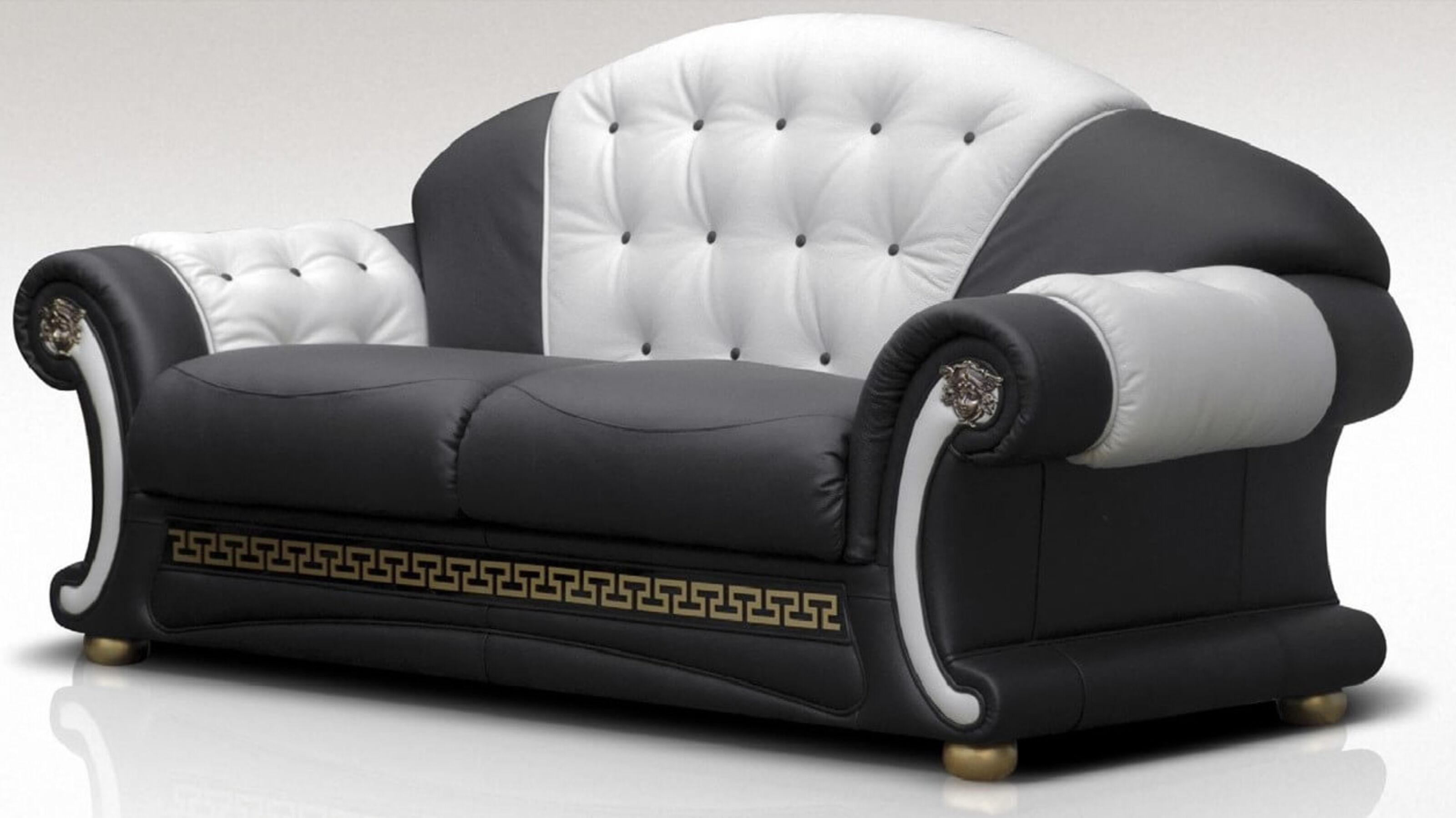 Superieur Versace 3 Seater Sofa Settee Italian Leather