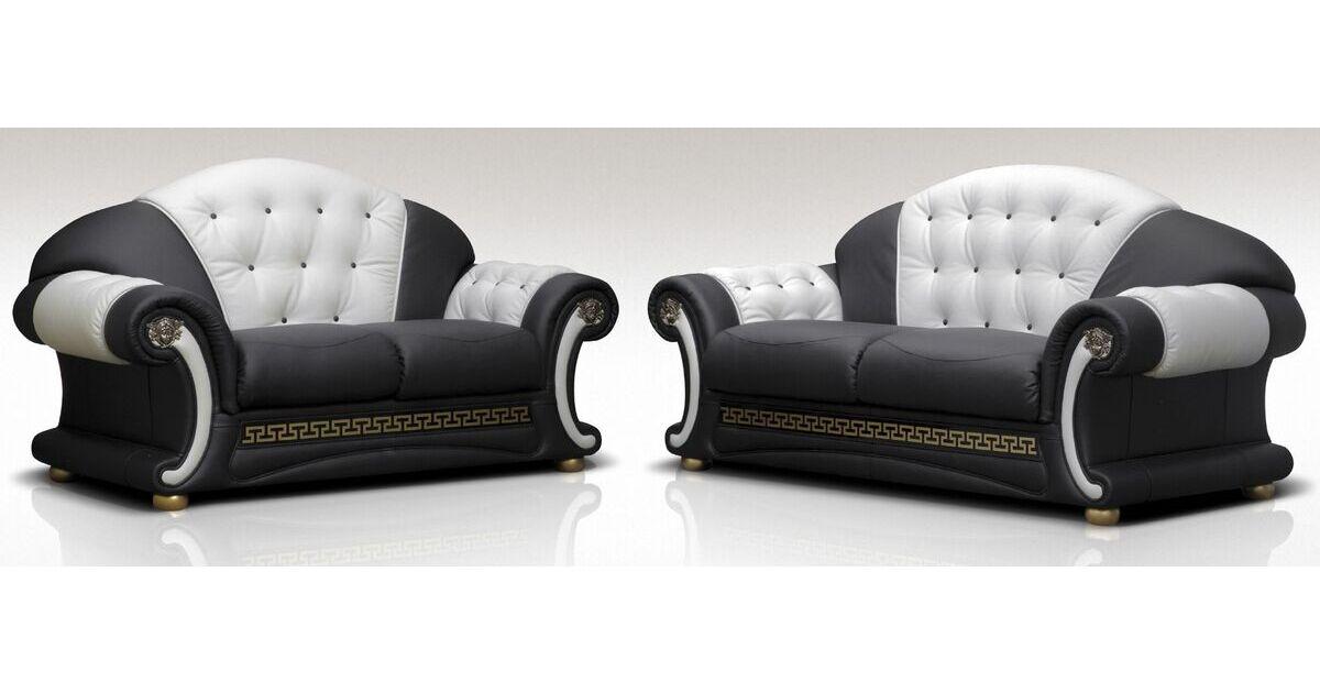 North Carolina 3 Seater 2 Seater Genuine Italian Black White Leather Sofa Suite Offer Leather Sofas Fabric Sofas