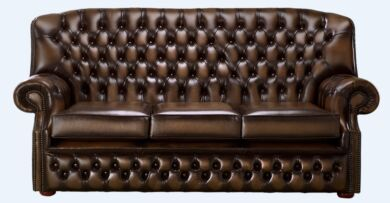 Chesterfield Monks 3 Seater Sofa Antique Brown Leather