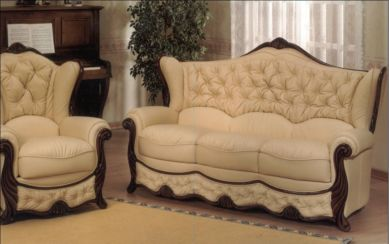 Christina Genuine Italian Leather Sofa Settee Offer