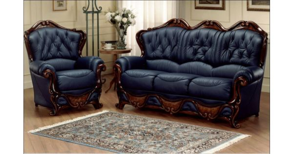 Real italian leather sofa buy at designer sofas 4u for Chair design leather