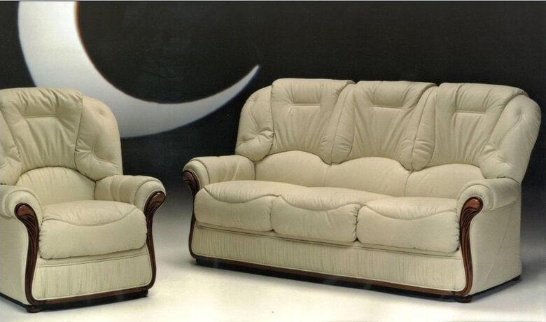 Debora Genuine Italian Leather Sofa Suite Offer, Leather Sofas, Fabric Sofas