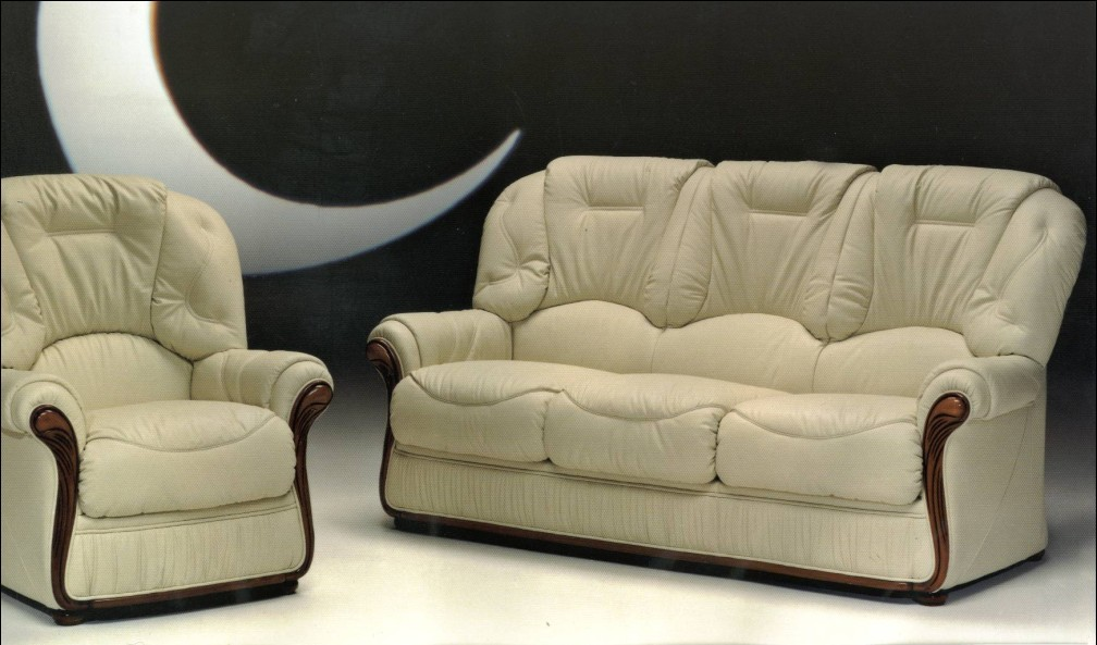 Debora genuine italian leather sofa suite offer leather for Genuine italian leather sectional sofa
