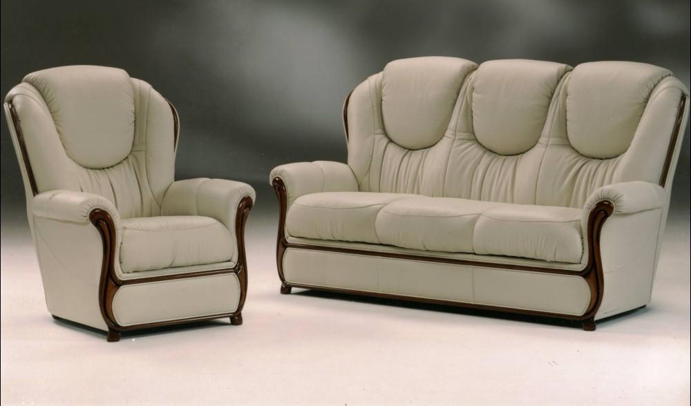 Juliet Genuine Italian Leather Sofa Settee Suite