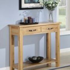 Oaken 2 Drawer Console Table