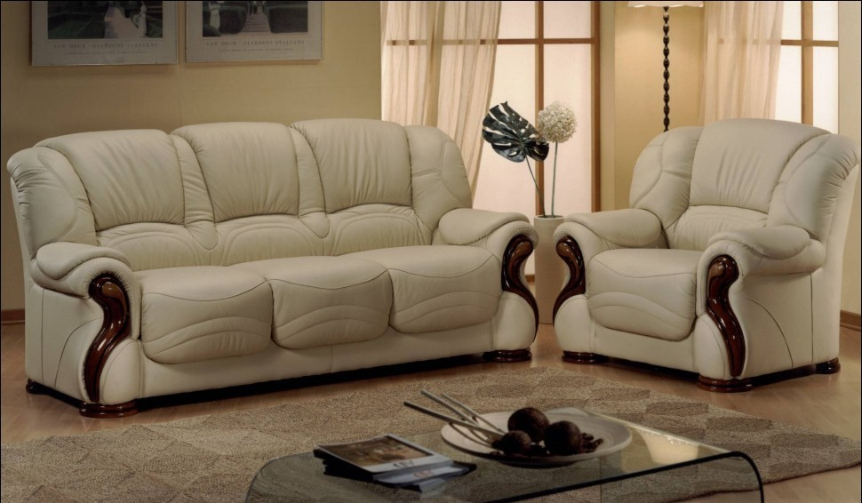 Susanna Genuine Italian Leather Sofa Settee Suite