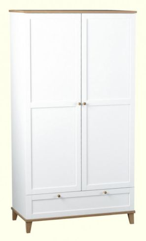 Arcadia 2 Door 1 Drawer Wardrobe