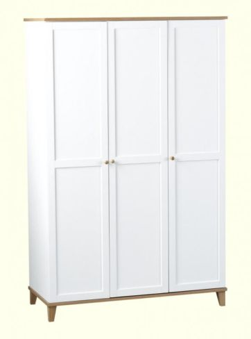 Arcadia 3 Door Wardrobe in White/Ash Veneer