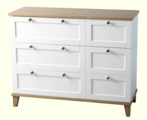 Arcadia *3 Drawer Chest in White/Ash Veneer
