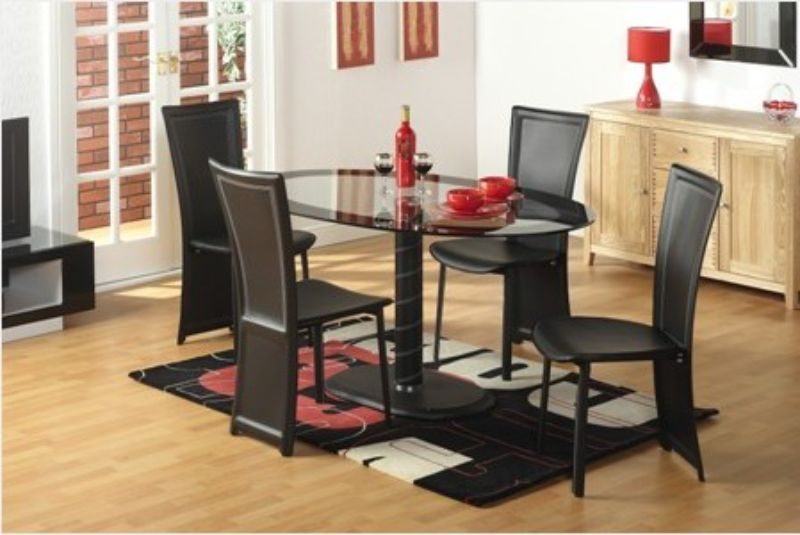 Cameo Oval Dining Set with Four Chairs