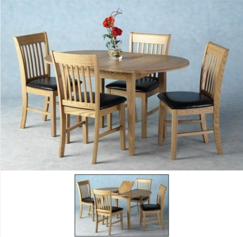 Liberty Extending Wooden Dining Set with 4 Chairs