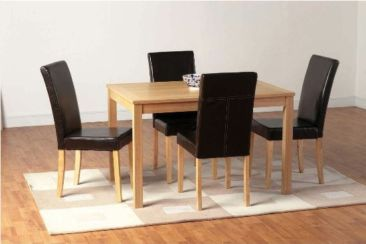 Oakmere Dining Set + 4 Expresso Brown G3 Chairs