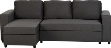 Dora Corner Sofa Bed in Dark Grey Fabric