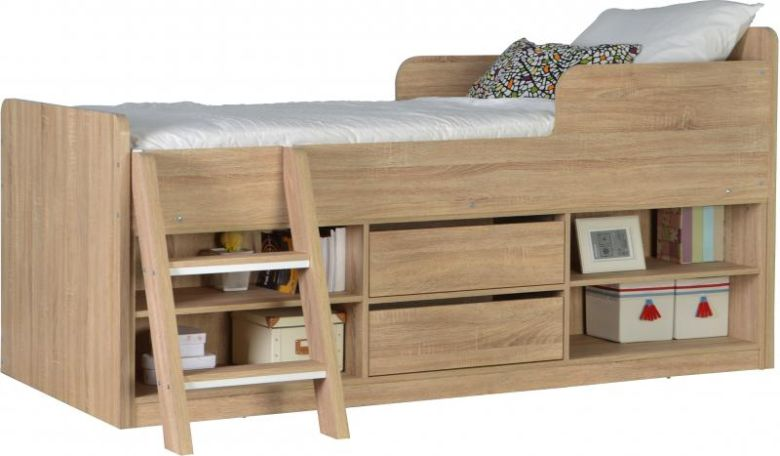 Felix Low Sleeper Bed in Sonoma Oak Effect Veneer