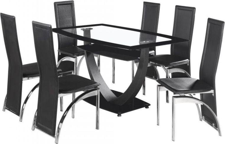 Henley Glass Dining Set + 6 Chairs