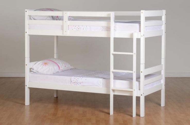 Panama 3' Bunk Bed in White