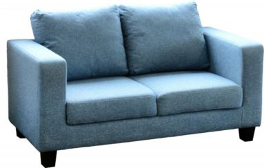 Tempo Two Seater Sofa-in-a-Box in Blue Fabric