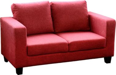 Tempo Two Seater Sofa-in-a-Box in Red Fabric