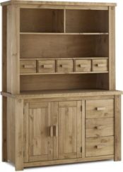 Tortilla Buffet Hutch in Distressed Waxed Pine